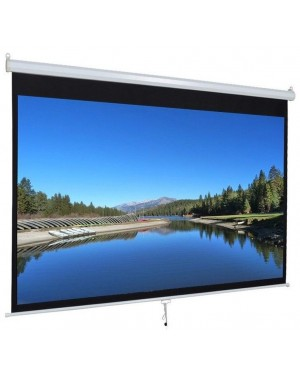 "Iview 180cmX180cm 96"" Diagonal Manual Projector Screen 1:1 Format"