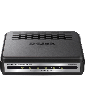 D-Link DES-1005A 5-Port 10/100BASE-T Unmanaged 10/100 Mbps Ethernet LAN Network Switch.