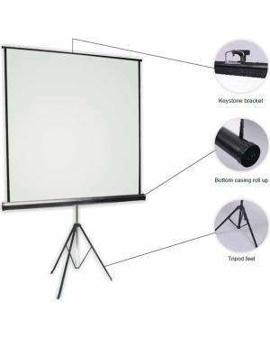 "Anchor ANTRS160 160cmx160cm  89"" Diagonal Tripod Projector Screen"