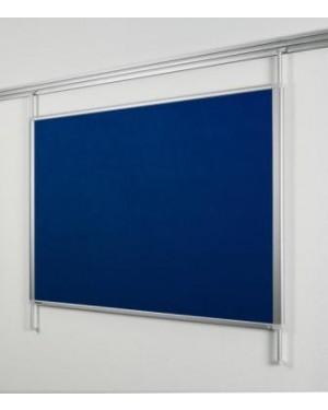 Legamaster Felt Pinboard for Legaline Dynamic 100x150 cm Anodised Aluminium, Blue Felt