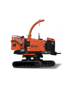 TimberWolf TW 280TVGTR Twin Hydraulic Feed Wood Chipper/Shredder Machine with tracking System